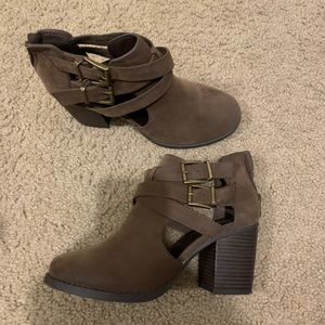 Chunky Brown Booties